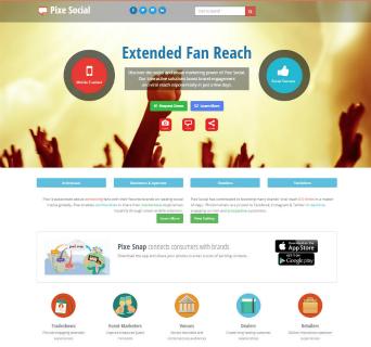 Pixe Social Website image