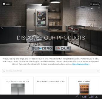 Sub-Zero and Wolf Website Redesign  image