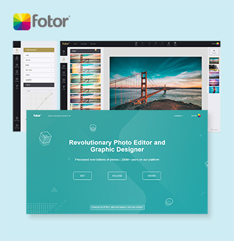 Fotor Photo Editor and  Design Maker image