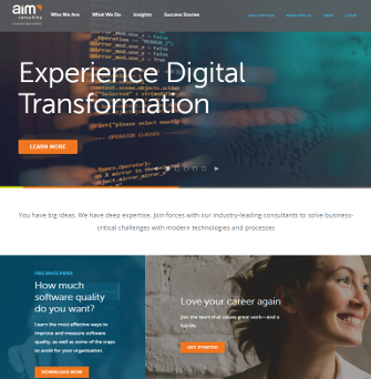 AIM Consulting Website image
