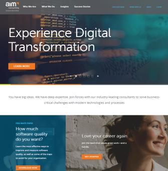 AIM Consulting Website image