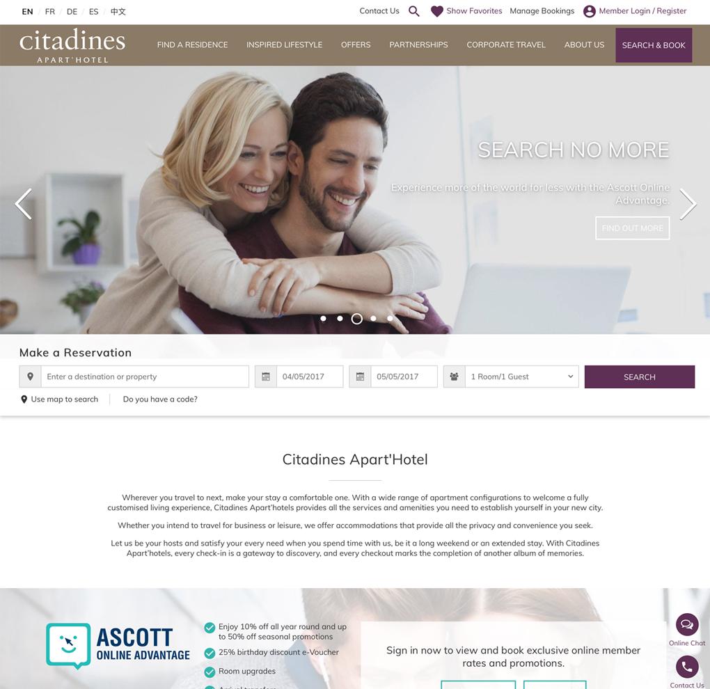 Citadines Apart'Hotel Website image