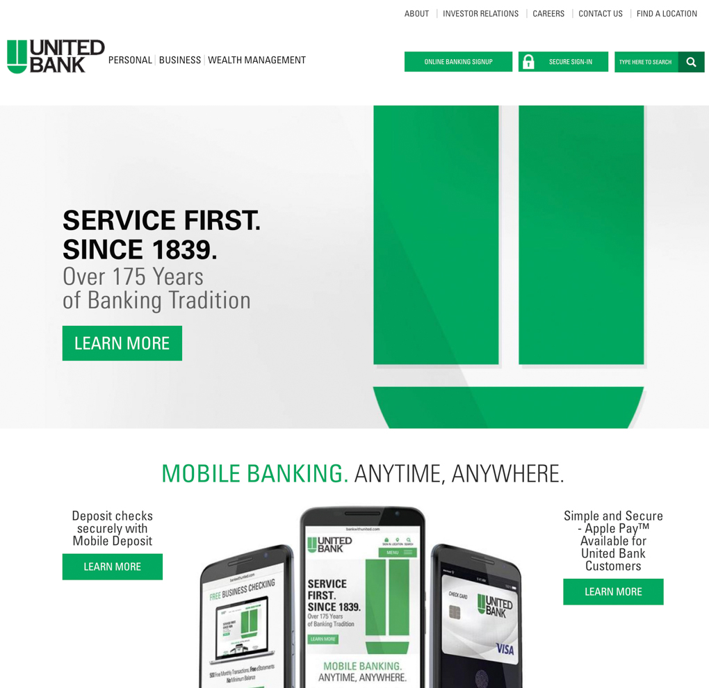 United Bank Website Redesign image