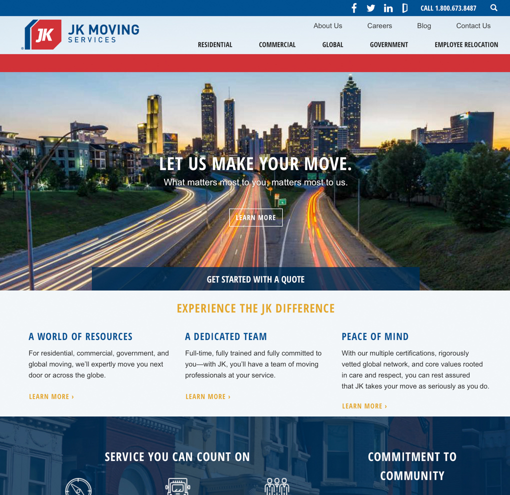 JK Moving Web Redesign image