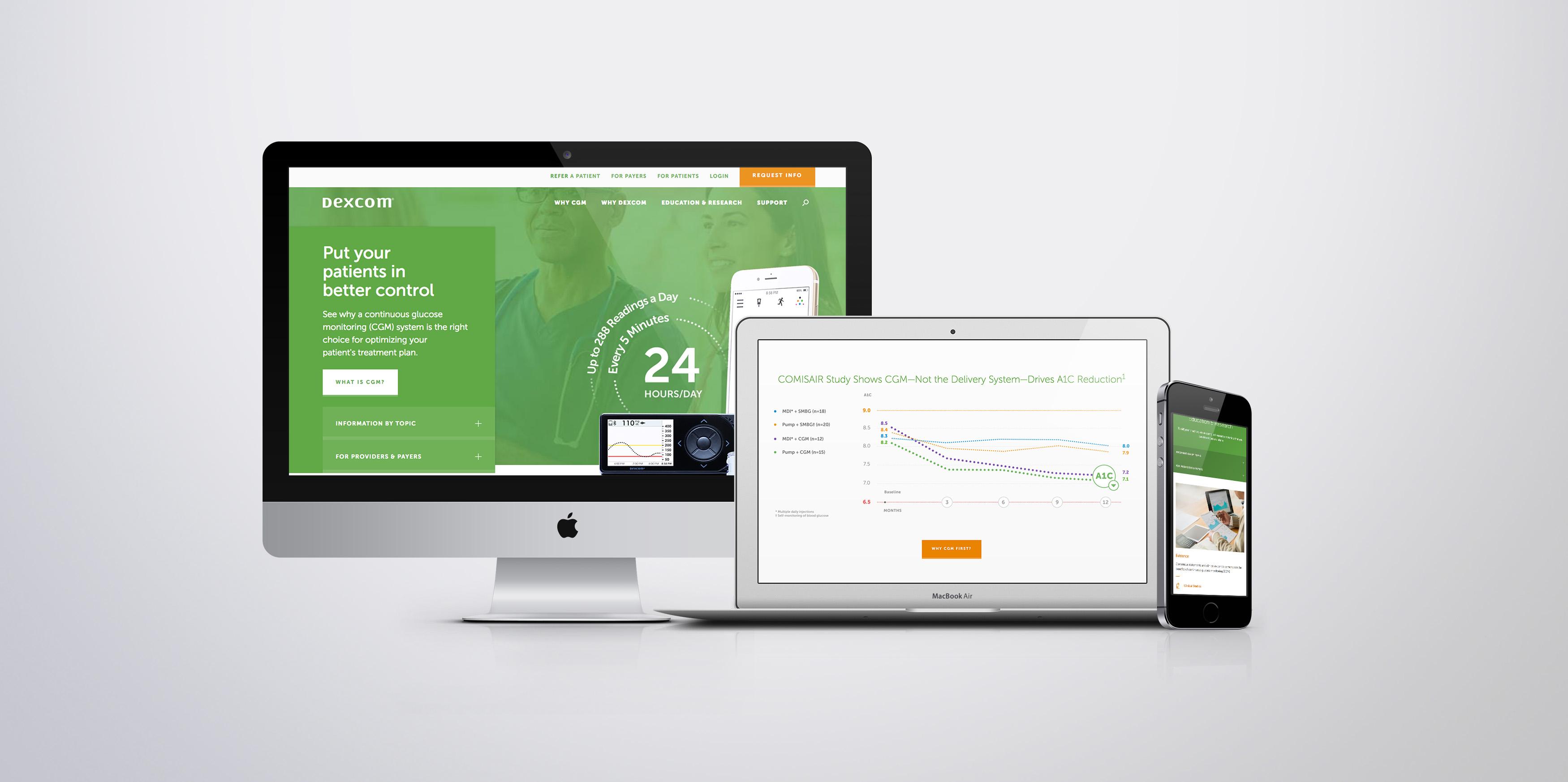 Dexcom Healthcare Professional Website image