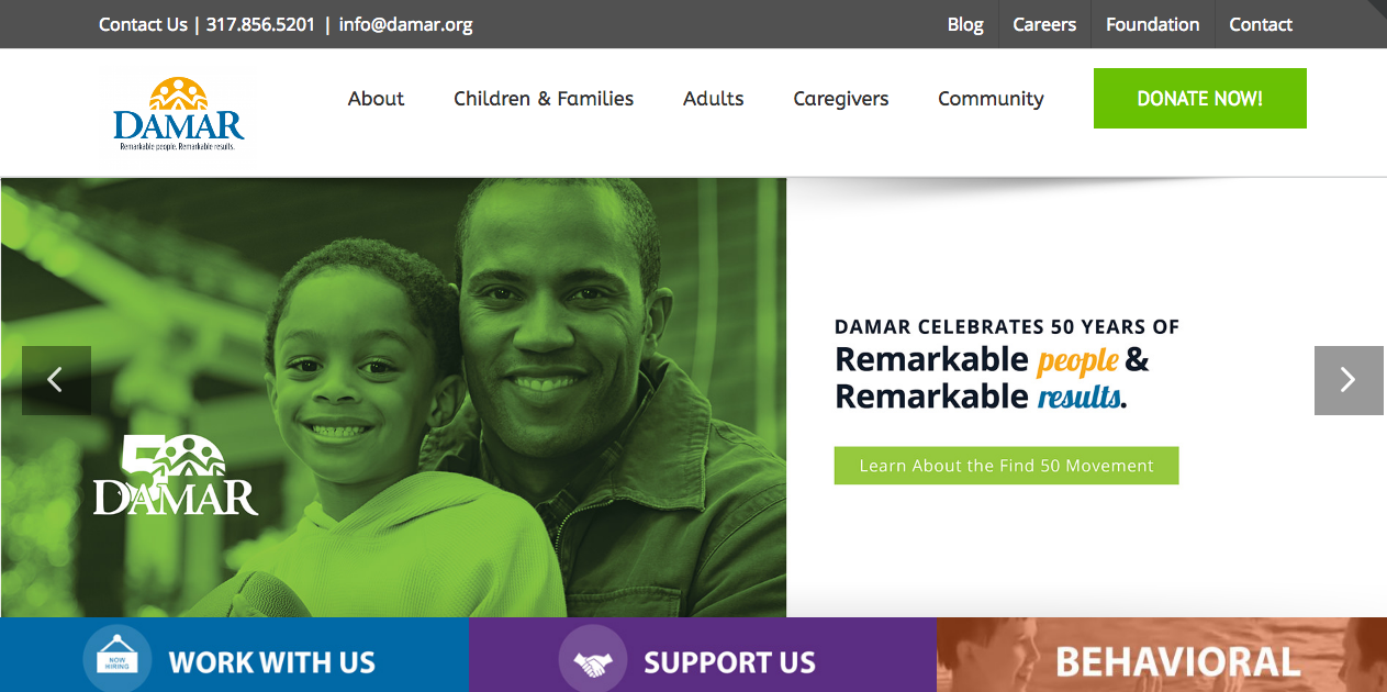 Damar Services, Inc Website image