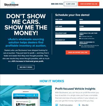vAuto's Stockwave Website image