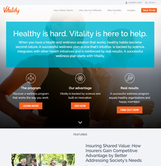 Vitality Group Website image