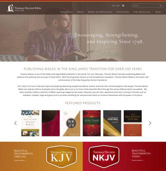 Thomas Nelson Bibles Website image