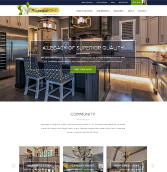 Magnolia Homes Website Redesign