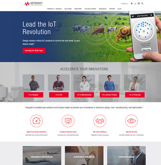 Keysight Technologies Website Redesign image