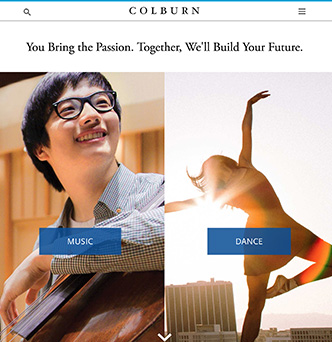Colburn School Website Redesign image