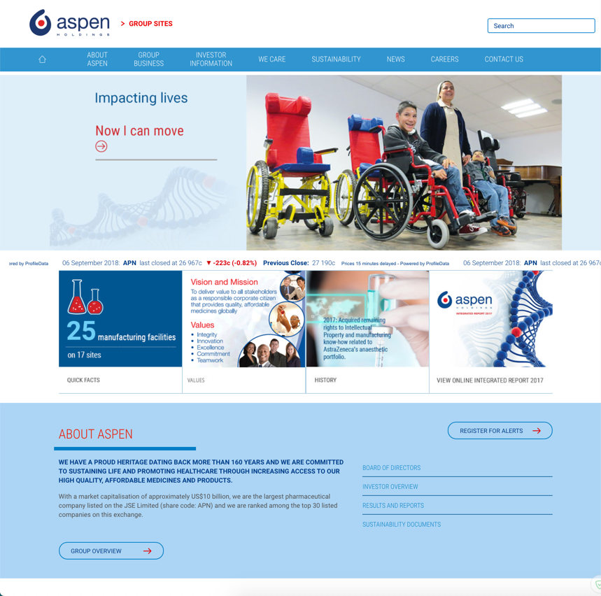 Aspen Group Website image