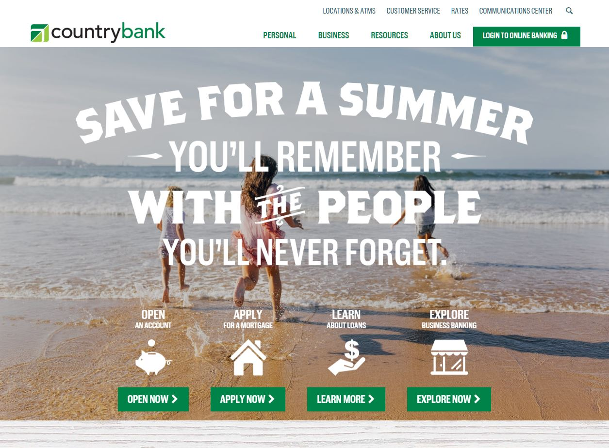 Country Bank Website image
