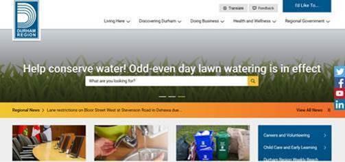 Durham Region Website image