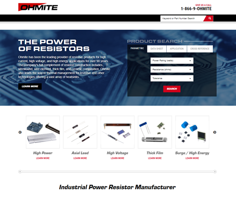 Ohmite Mfg Co Website image