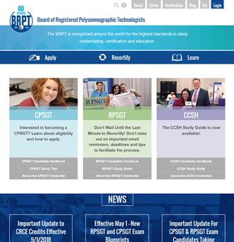 Board of Registered Polysomnographic Technologists Website Redesign image