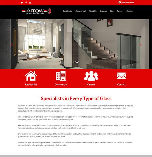 Arrow Glass & Mirror image