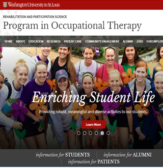 Occupational Therapy - Washington University School of Medicine image