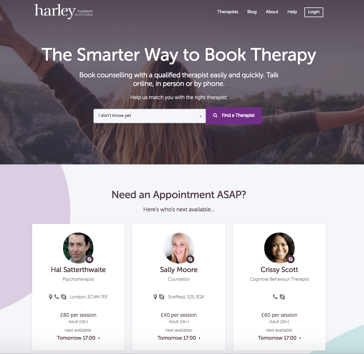 HarleyTherapy.com - Everyone needs a therapist image