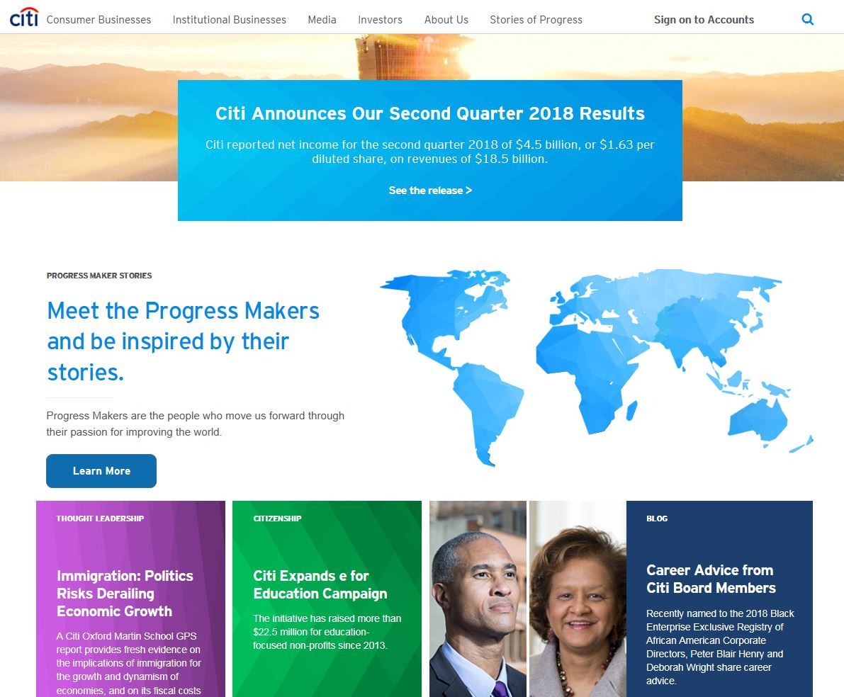 Global Corporate Website Redesign