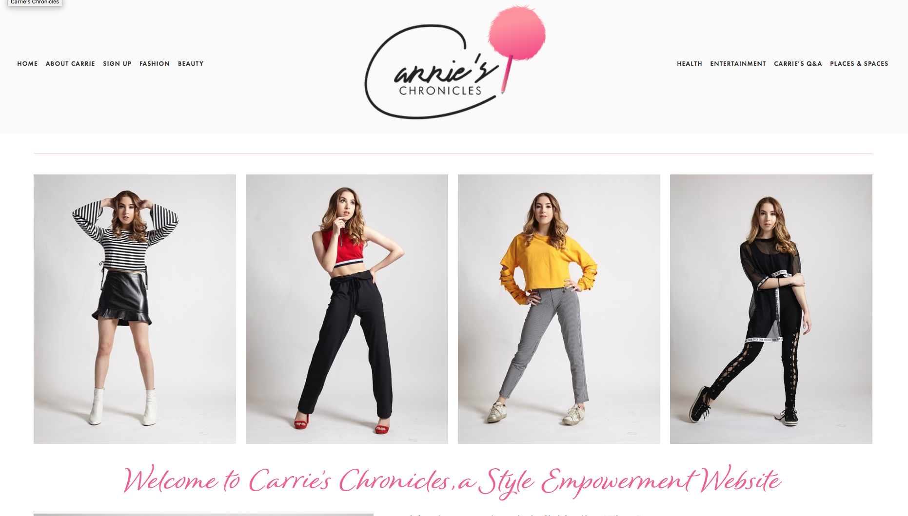 Carrie's Chronicles: A Style Empowerment Site