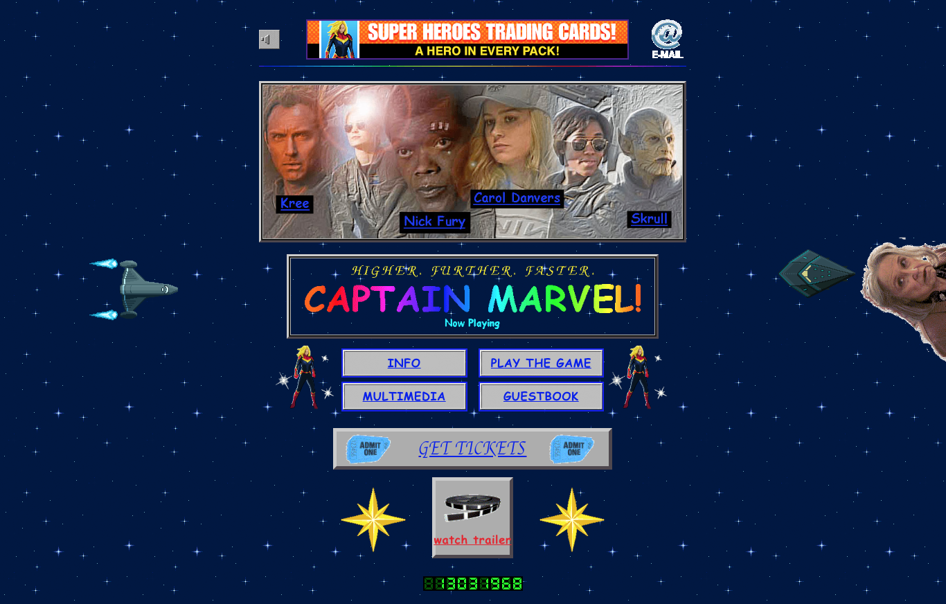 Captain Marvel: A 1990s Inspired Official Movie Site image