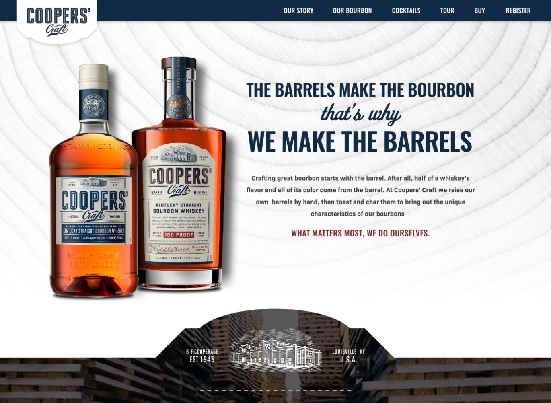 Coopers' Craft Website image