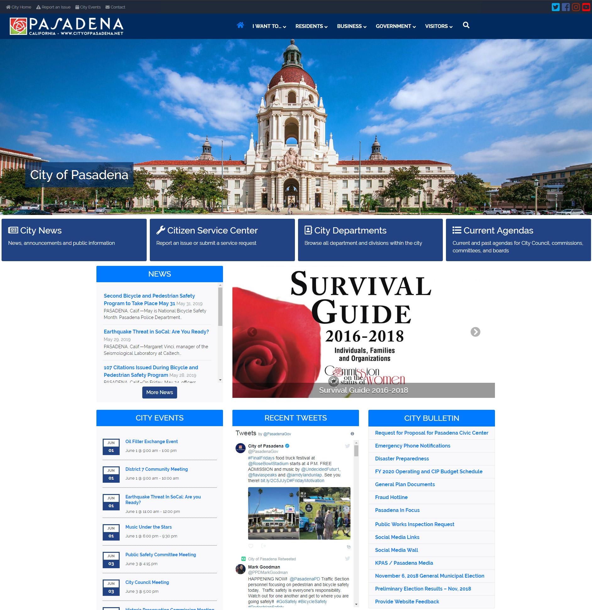The Official Website of City of Pasadena, California image