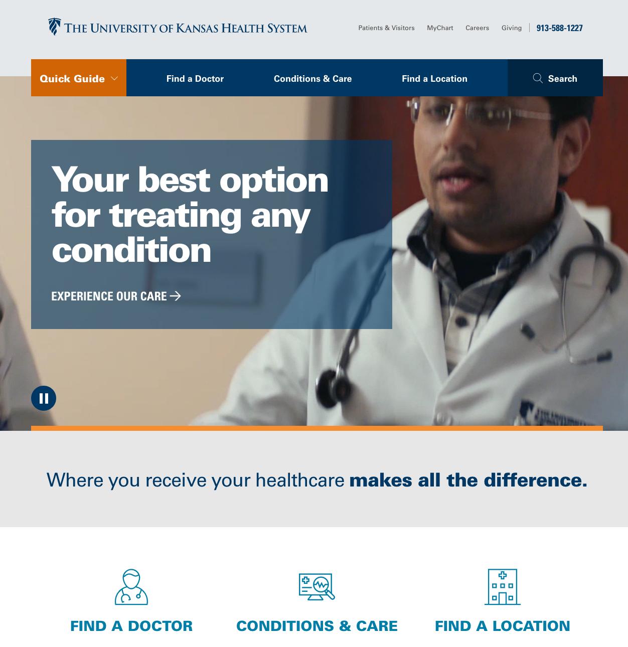 The University of Kansas Health System Website image