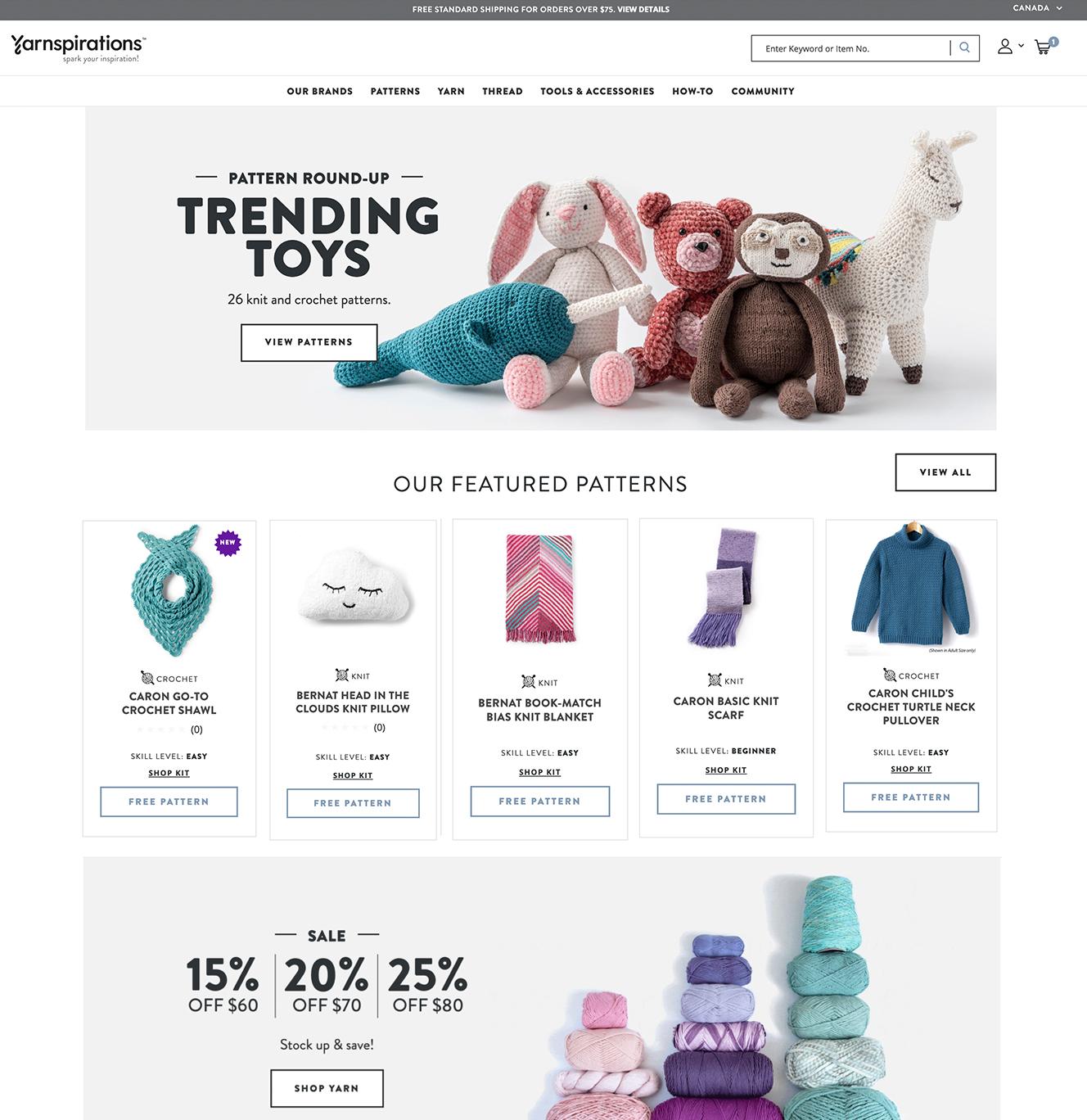 Yarnspirations.com Rebrand & Site Relaunch