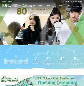 HKU Faculty of Science Website image
