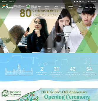 HKU Faculty of Science Website image