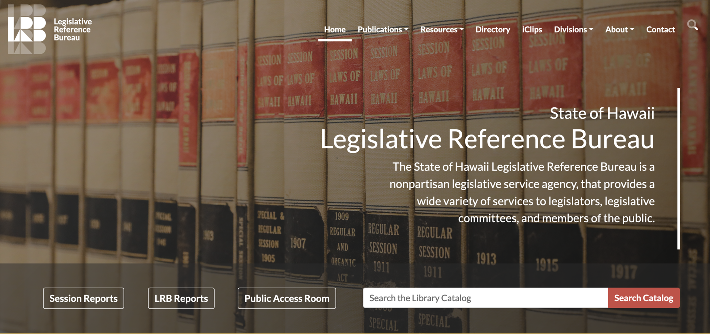 Legislative Reference Bureau & Public Access Room Websites image