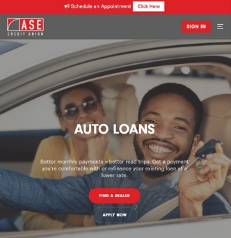 ASE Credit Union Website image