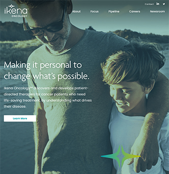 Ikena Oncology Corporate Website image