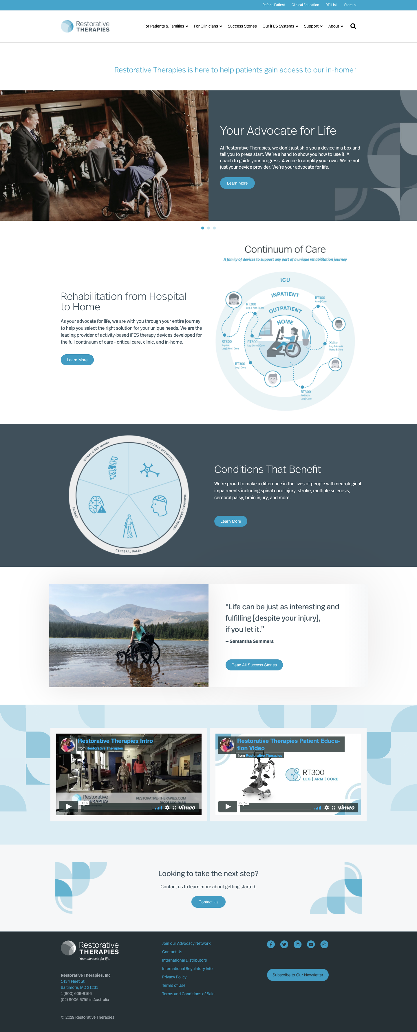 Restorative Therapies Website Redesign image