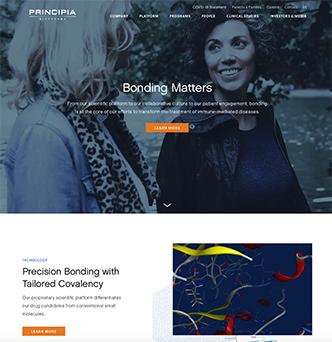 Principia Biopharma Corporate Website image
