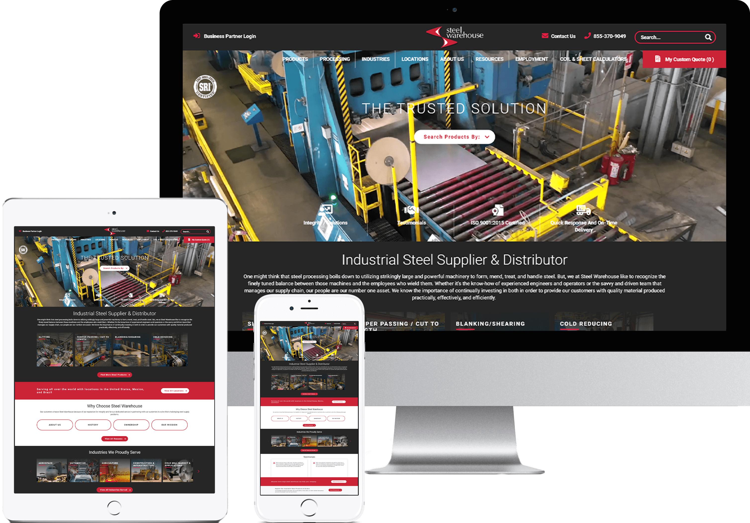 Steel Warehouse Website