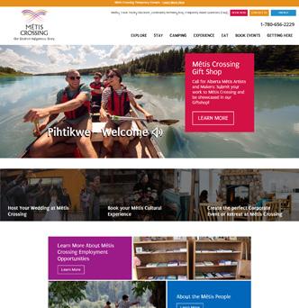 Métis Crossing Website image