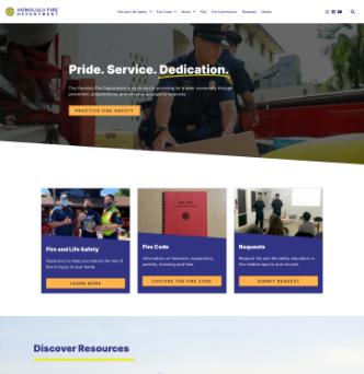 Honolulu Fire Department Website image