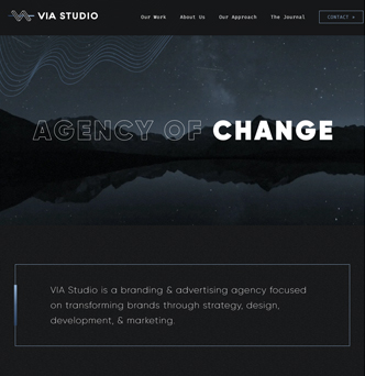 VIA Studio Website