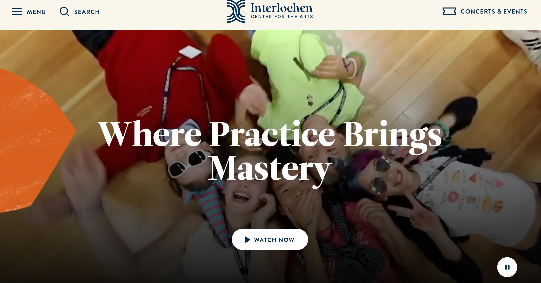 Interlochen Center for the Arts Website Redesign