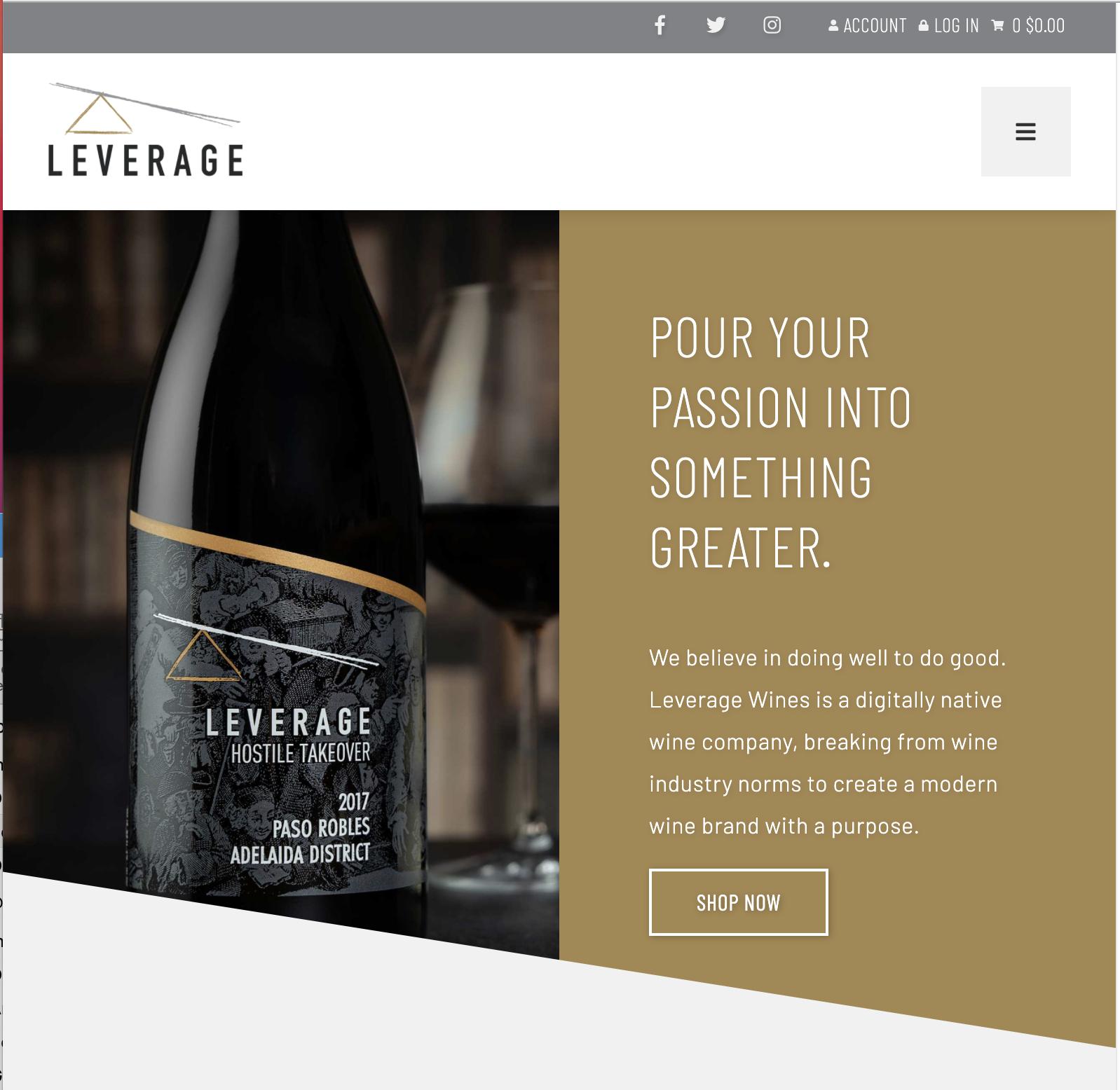 Leverage Wines Website