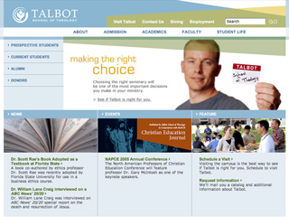 Talbot School of Theology Website image