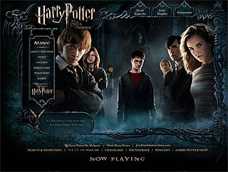 Harry Potter and the Order of the Phoenix website image